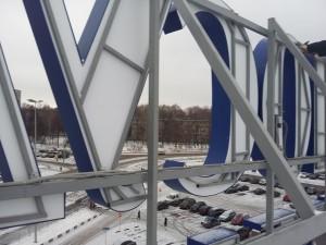 Изготовлению крышной конструкции для магазина Посуда Центр в городе Нижний Новгород