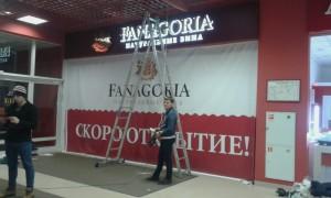 Изготовление вывески для магазина FANAGORIA